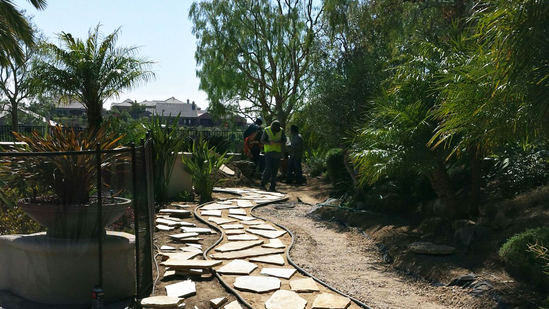 New flagstone walkway installed at a home in  Oceanside, CA.