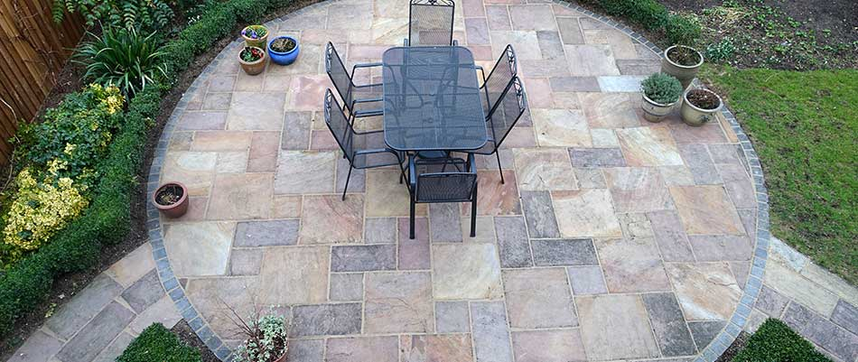 This patio in Rancho Santa Fe, CA, adds extra space for this homeowner.
