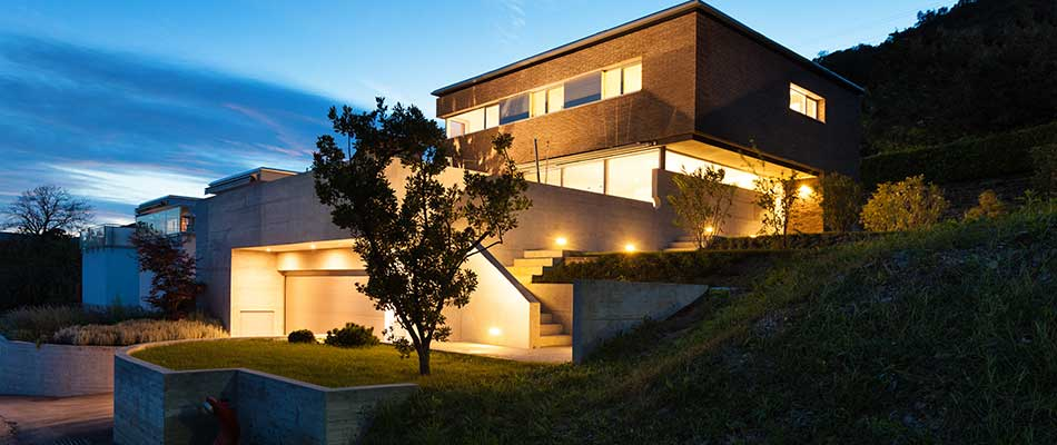 A home near Escondido, CA with an LED landscape lighting system.