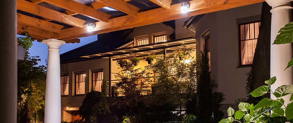 Our company's outdoor lighting installation and design services for a home in San Marcos, CA.