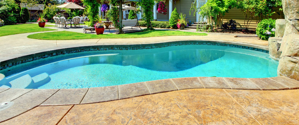 A residential pool that we installed for a client in Rancho Santa Fe, CA.