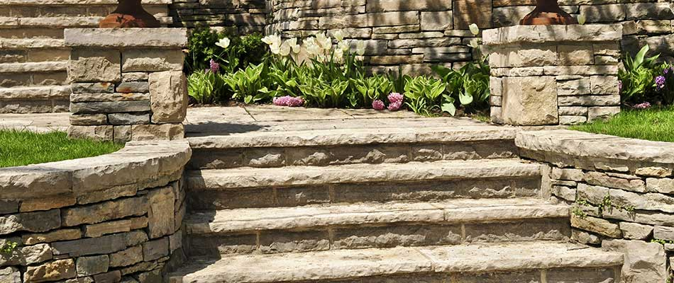 Stone steps we installed at a residential property in Rancho Santa Fe, CA.