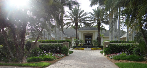 Full-service grounds maintenance at luxury estate in Rancho Santa Fe, CA.