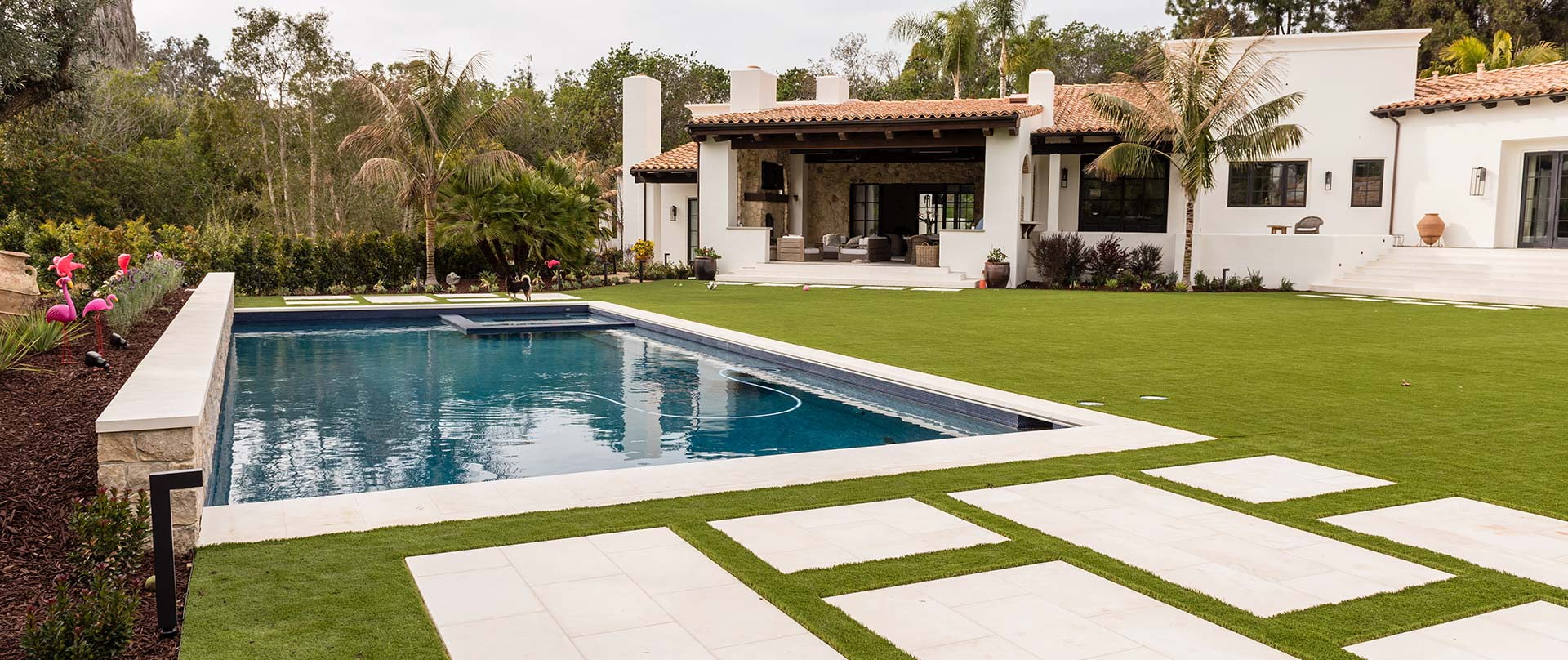 Backyard Makeover with Pool & Spa in Encinitas, CA